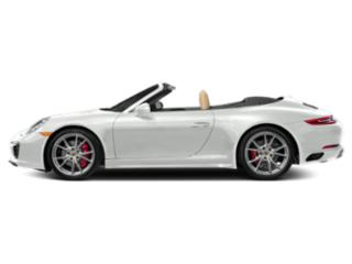 White 2018 Porsche 911 Pictures 911 Cabriolet 2D 4S AWD H6 Turbo photos side view