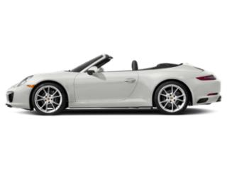 White 2018 Porsche 911 Pictures 911 Carrera 4 Cabriolet photos side view
