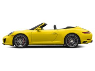 Racing Yellow 2018 Porsche 911 Pictures 911 Cabriolet 2D S H6 Turbo photos side view