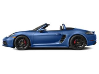 Sapphire Blue Metallic 2018 Porsche 718 Boxster Pictures 718 Boxster GTS Roadster photos side view