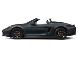 Graphite Blue Metallic 2018 Porsche 718 Boxster Pictures 718 Boxster Roadster 2D S H4 Turbo photos side view