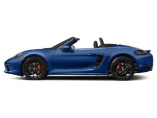 Sapphire Blue Metallic 2018 Porsche 718 Boxster Pictures 718 Boxster Roadster 2D S H4 Turbo photos side view