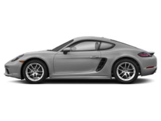 GT Silver Metallic 2018 Porsche 718 Cayman Pictures 718 Cayman Coupe photos side view