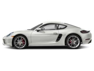 White 2018 Porsche 718 Cayman Pictures 718 Cayman S Coupe photos side view
