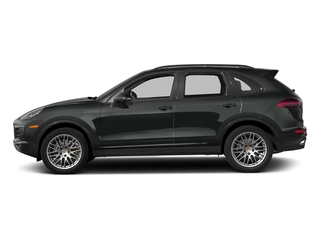 Jet Black Metallic 2018 Porsche Cayenne Pictures Cayenne Utility 4D Platinum AWD V6 photos side view