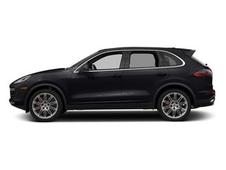Jet Black Metallic 2018 Porsche Cayenne Pictures Cayenne Utility 4D AWD V8 Turbo photos side view