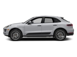 Rhodium Silver Metallic 2018 Porsche Macan Pictures Macan Turbo AWD w/Performance Pkg photos side view