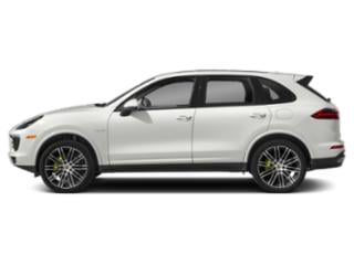 White 2018 Porsche Cayenne Pictures Cayenne S Platinum Edition E-Hybrid AWD photos side view