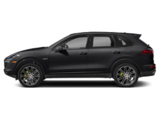 Black 2018 Porsche Cayenne Pictures Cayenne S Platinum Edition E-Hybrid AWD photos side view