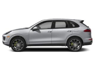 Rhodium Silver Metallic 2018 Porsche Cayenne Pictures Cayenne S Platinum Edition E-Hybrid AWD photos side view