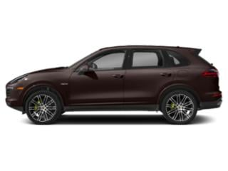 Mahogany Metallic 2018 Porsche Cayenne Pictures Cayenne S Platinum Edition E-Hybrid AWD photos side view
