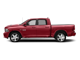 Flame Red Clearcoat 2018 Ram Truck 1500 Pictures 1500 Night 4x4 Crew Cab 6'4 Box *Ltd Avail* photos side view