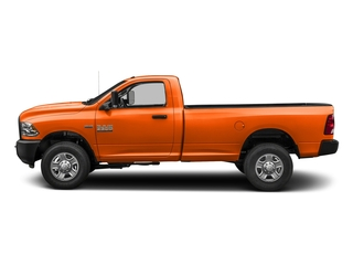 Omaha Orange 2018 Ram Truck 3500 Pictures 3500 Tradesman 4x2 Reg Cab 8' Box photos side view