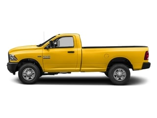 Yellow 2018 Ram Truck 3500 Pictures 3500 Tradesman 4x2 Reg Cab 8' Box photos side view