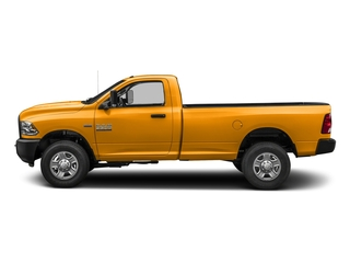 School Bus Yellow 2018 Ram Truck 3500 Pictures 3500 Tradesman 4x2 Reg Cab 8' Box photos side view