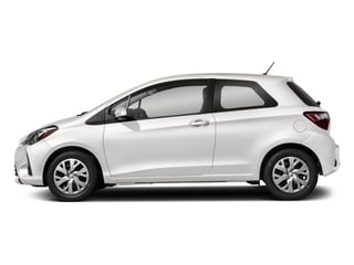 Super White 2018 Toyota Yaris Pictures Yaris Hatchback 3D LE I4 photos side view