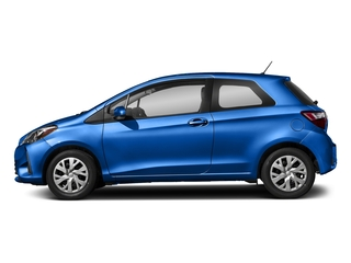 Blue Eclipse Metallic 2018 Toyota Yaris Pictures Yaris Hatchback 3D LE I4 photos side view