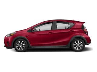 Absolutely Red 2018 Toyota Prius c Pictures Prius c Liftback 5D c One I4 Hybrid photos side view