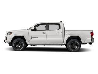 Super White 2018 Toyota Tacoma Pictures Tacoma SR5 Crew Cab 4WD V6 photos side view