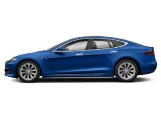 Deep Blue Metallic 2018 Tesla Motors Model S Pictures Model S Sedan 4D D 100 kWh AWD photos side view