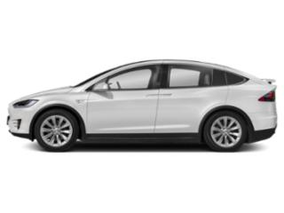 Pearl White Multi-Coat 2018 Tesla Motors Model X Pictures Model X 100D AWD photos side view