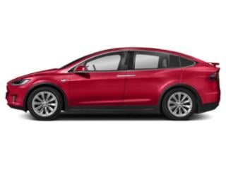 Red Multi-Coat 2018 Tesla Motors Model X Pictures Model X 100D AWD photos side view
