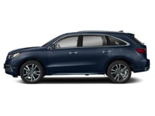 Fathom Blue Pearl 2019 Acura MDX Pictures MDX SH-AWD w/Advance Pkg photos side view