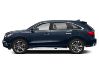 Fathom Blue Pearl 2019 Acura MDX Pictures MDX FWD w/Technology/Entertainment Pkg photos side view