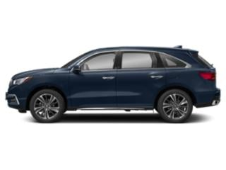 Fathom Blue Pearl 2019 Acura MDX Pictures MDX FWD w/Technology Pkg photos side view