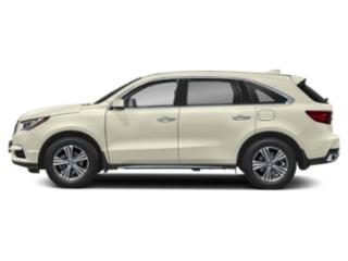 White Diamond Pearl 2019 Acura MDX Pictures MDX FWD photos side view