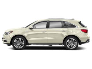 White Diamond Pearl 2019 Acura MDX Pictures MDX SH-AWD Sport Hybrid w/Advance Pkg photos side view