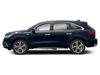 Fathom Blue Pearl 2019 Acura MDX Pictures MDX SH-AWD Sport Hybrid w/Technology Pkg photos side view