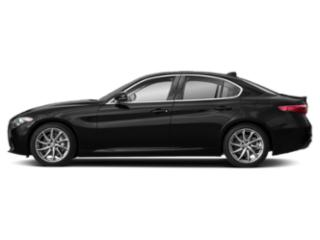 Vulcano Black Metallic 2019 Alfa Romeo Giulia Pictures Giulia Ti Sport AWD photos side view
