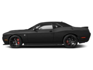 Pitch Black Clearcoat 2019 Dodge Challenger Pictures Challenger SRT Hellcat RWD photos side view