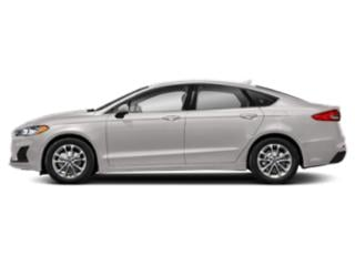 White Platinum Metallic Tri-Coat 2019 Ford Fusion Pictures Fusion SEL FWD photos side view