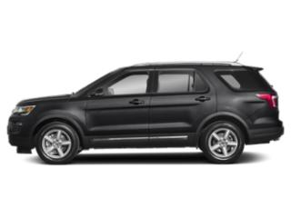 Agate Black Metallic 2019 Ford Explorer Pictures Explorer Limited FWD photos side view
