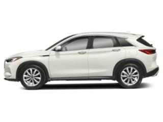 Lunar White 2019 INFINITI QX50 Pictures QX50 LUXE AWD photos side view