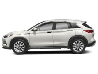 Majestic White 2019 INFINITI QX50 Pictures QX50 LUXE AWD photos side view