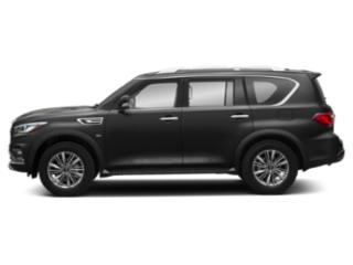 Black Obsidian 2019 INFINITI QX80 Pictures QX80 LUXE AWD photos side view