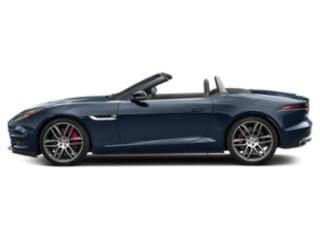Loire Blue Metallic 2019 Jaguar F-TYPE Pictures F-TYPE Convertible Auto R-Dynamic photos side view