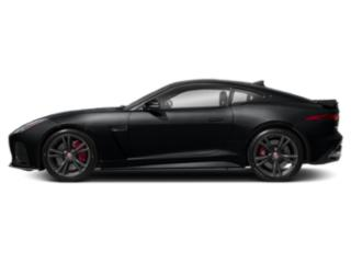 Santorini Black Metallic 2019 Jaguar F-TYPE Pictures F-TYPE Coupe Auto SVR AWD photos side view