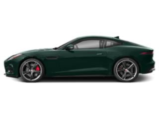British Racing Green Metallic 2019 Jaguar F-TYPE Pictures F-TYPE Coupe Auto R-Dynamic AWD photos side view