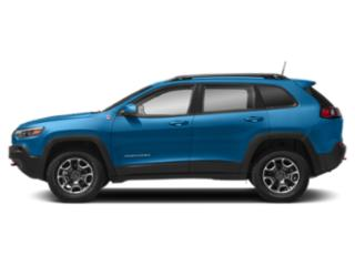 Hydro Blue Pearlcoat 2019 Jeep Cherokee Pictures Cherokee Trailhawk Elite 4x4 photos side view