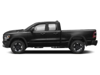 Diamond Black Crystal Pearlcoat 2019 Ram Truck 1500 Pictures 1500 Longhorn 4x2 Crew Cab 6'4 Box photos side view