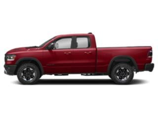 Flame Red Clearcoat 2019 Ram Truck 1500 Pictures 1500 Rebel 4x4 Quad Cab 6'4 Box photos side view