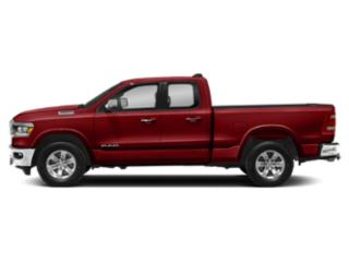 Flame Red Clearcoat 2019 Ram Truck 1500 Pictures 1500 Laramie 4x4 Quad Cab 6'4 Box photos side view