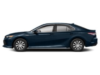 Galactic Aqua Mica 2019 Toyota Camry Pictures Camry Hybrid LE CVT photos side view