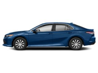 Blue Streak Metallic 2019 Toyota Camry Pictures Camry Hybrid LE CVT photos side view