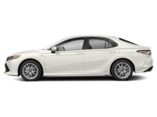 Super White 2019 Toyota Camry Pictures Camry Hybrid XLE CVT photos side view