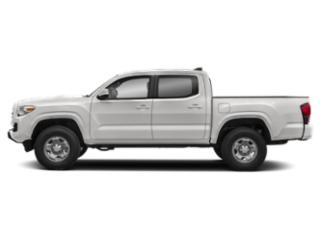 Super White 2019 Toyota Tacoma 2WD Pictures Tacoma 2WD SR Double Cab 5' Bed I4 AT photos side view